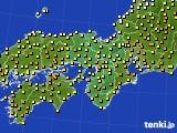 近畿地方のアメダス実況(気温)(2020年05月17日)