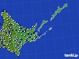 道東のアメダス実況(風向・風速)(2020年05月17日)