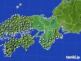 近畿地方のアメダス実況(降水量)(2020年05月18日)