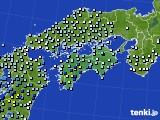 四国地方のアメダス実況(降水量)(2020年05月18日)