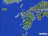 九州地方のアメダス実況(降水量)(2020年05月18日)