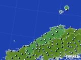 島根県のアメダス実況(降水量)(2020年05月18日)