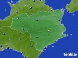 徳島県のアメダス実況(降水量)(2020年05月18日)