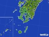 鹿児島県のアメダス実況(降水量)(2020年05月18日)