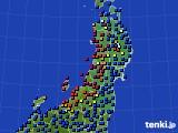 東北地方のアメダス実況(日照時間)(2020年05月18日)