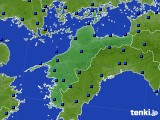 愛媛県のアメダス実況(日照時間)(2020年05月18日)