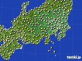 関東・甲信地方のアメダス実況(気温)(2020年05月18日)