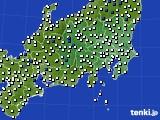 関東・甲信地方のアメダス実況(風向・風速)(2020年05月18日)
