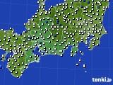 東海地方のアメダス実況(風向・風速)(2020年05月18日)