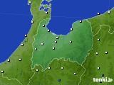 富山県のアメダス実況(風向・風速)(2020年05月18日)