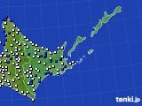 道東のアメダス実況(風向・風速)(2020年05月18日)