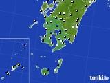 鹿児島県のアメダス実況(風向・風速)(2020年05月18日)
