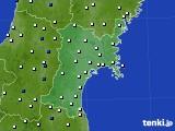 宮城県のアメダス実況(風向・風速)(2020年05月18日)