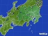 関東・甲信地方のアメダス実況(降水量)(2020年05月19日)