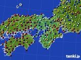 2020年05月19日の近畿地方のアメダス(日照時間)