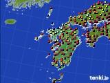九州地方のアメダス実況(日照時間)(2020年05月19日)