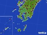 鹿児島県のアメダス実況(日照時間)(2020年05月19日)