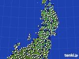 2020年05月19日の東北地方のアメダス(風向・風速)