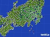 関東・甲信地方のアメダス実況(風向・風速)(2020年05月19日)
