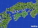 四国地方のアメダス実況(風向・風速)(2020年05月19日)