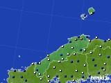 島根県のアメダス実況(風向・風速)(2020年05月19日)
