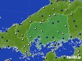 広島県のアメダス実況(風向・風速)(2020年05月19日)
