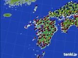九州地方のアメダス実況(日照時間)(2020年05月20日)