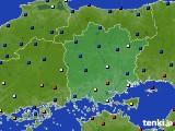 岡山県のアメダス実況(日照時間)(2020年05月20日)