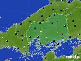 広島県のアメダス実況(日照時間)(2020年05月20日)