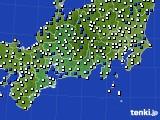 東海地方のアメダス実況(風向・風速)(2020年05月20日)