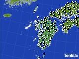 九州地方のアメダス実況(風向・風速)(2020年05月20日)