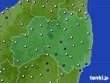 福島県のアメダス実況(風向・風速)(2020年05月20日)