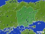 岡山県のアメダス実況(風向・風速)(2020年05月20日)