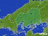 広島県のアメダス実況(風向・風速)(2020年05月20日)