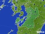 熊本県のアメダス実況(風向・風速)(2020年05月20日)