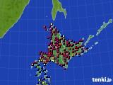 北海道地方のアメダス実況(日照時間)(2020年05月21日)