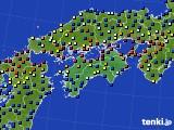 四国地方のアメダス実況(日照時間)(2020年05月21日)