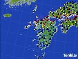 九州地方のアメダス実況(日照時間)(2020年05月21日)
