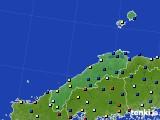 島根県のアメダス実況(日照時間)(2020年05月21日)
