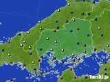 広島県のアメダス実況(日照時間)(2020年05月21日)