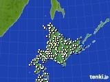 北海道地方のアメダス実況(気温)(2020年05月21日)