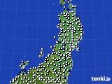 2020年05月21日の東北地方のアメダス(風向・風速)