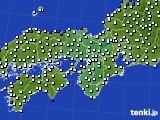 近畿地方のアメダス実況(風向・風速)(2020年05月21日)