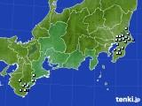 東海地方のアメダス実況(降水量)(2020年05月22日)