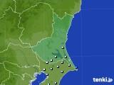 茨城県のアメダス実況(降水量)(2020年05月22日)