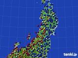 東北地方のアメダス実況(日照時間)(2020年05月22日)