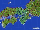 2020年05月22日の近畿地方のアメダス(日照時間)