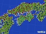 四国地方のアメダス実況(日照時間)(2020年05月22日)