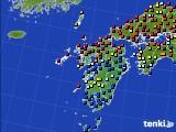 九州地方のアメダス実況(日照時間)(2020年05月22日)