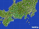 2020年05月22日の東海地方のアメダス(気温)